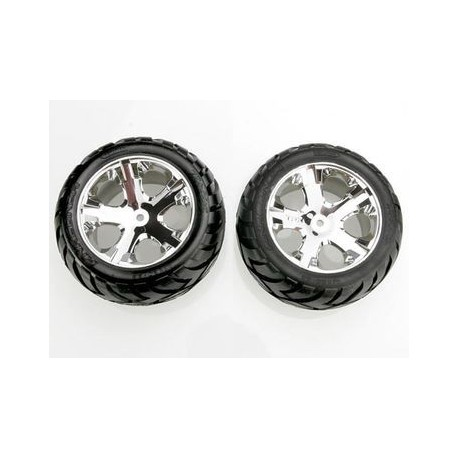"Traxxas 3773 Tires & Wheels Anaconda/AllStar Chrome 2,8"" (2)"