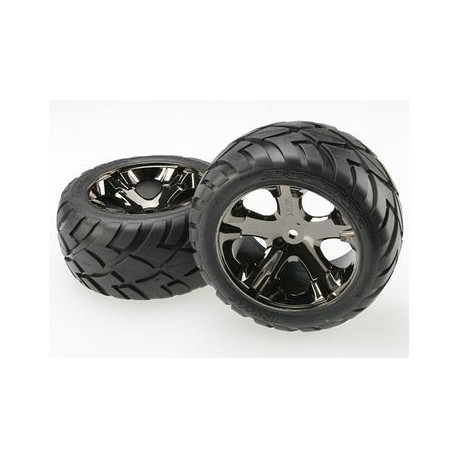 "Traxxas 3773A Tires & Wheels Anaconda/AllStar Black Chrome 2,8"" (2)"