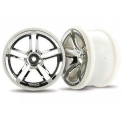 "Traxxas 3774 Wheels Twin-Spoke 2.8"" Chrome (2)"