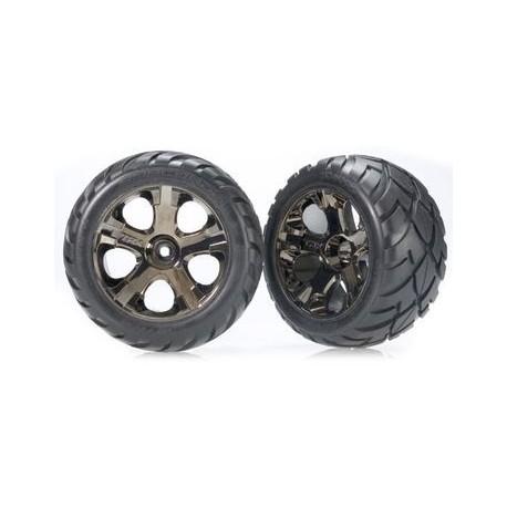 "Traxxas 3776A Tires & Wheels Anaconda/All-Star Black Chrome 2,8"" (2)"