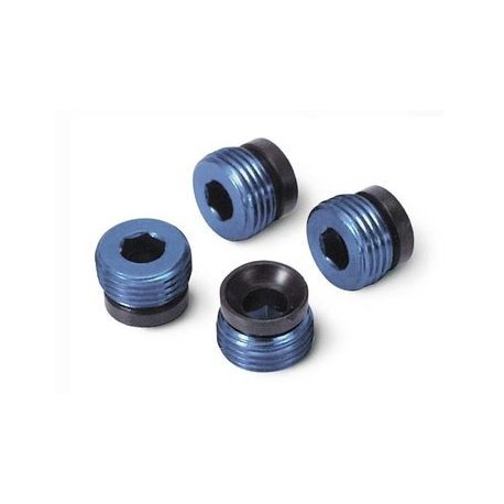 Traxxas 4934X Pivot Ball Caps Aluminium Blue (4)