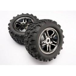 """Traxxas 4983A Tires & Wheels Maxx/SS Black Chrome (17mm) 3,8"""" (2) (TSM)"""