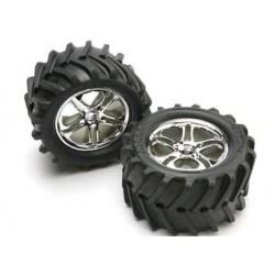 """Traxxas 5173 Tires & Wheels Maxx Chevron/SS (14mm) 3,8"""" (2)"""