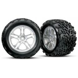 """Traxxas 5174 Tires & Wheels Talon/SS Chrome (14mm) 3,8"""" (2)"""