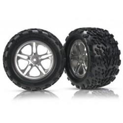 "Traxxas 5174A Tires & Wheels Talon/SS Satin (14mm) 3,8"" (2)"