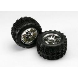 """Traxxas 5174R Tires & Wheels Talon/SS Chrome (17mm) 3,8"""" (2)"""
