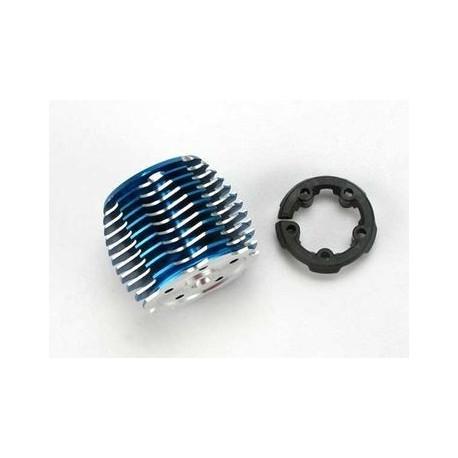 Traxxas 5237 Cooling head TRX2.5 & 2.5R blu