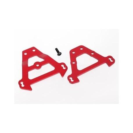 Traxxas 5323R Bulkhead Tie Bars Front & Rear Aluminium Red