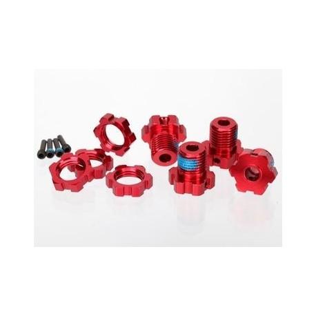 Traxxas 5353R Wheel Hub & Nuts 17mm Aluminium Red (4)