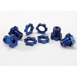 Traxxas 5353X Wheel Hub & Nuts 17mm Aluminium Blue (4)
