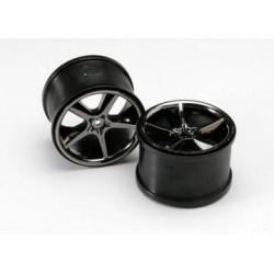 """Traxxas 5372A Wheels Gemini Black Chrome (14mm) 3,8"""" (2)"""