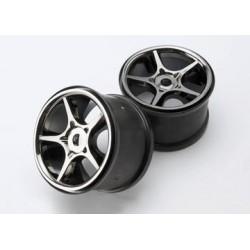 "Traxxas 5372X Wheels Gemini Black Chrome (17mm) 3,8"" (2)"