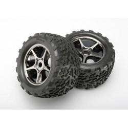 "Traxxas 5374X Tires & Wheels Talon/Gemini Black Chrome (17mm) 3,8"" (2)"