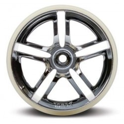"Traxxas 5572 Wheels Twin-Spoke 2.8"" Chrome (2)"