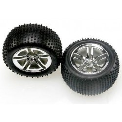 "Traxxas 5572R Tires & Wheels Alias/ Twin-Spoke (Nitro Rear) 2,8"" (2)"