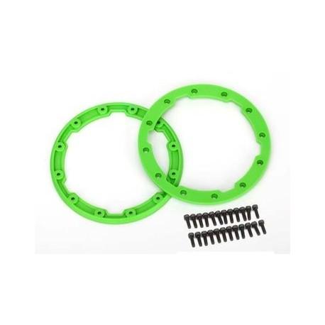 Traxxas 5664 Sidewall protector, beadlock style (green) (2)/ 2.5x8mm CS (