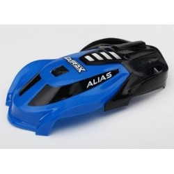 Traxxas 6612 CANOPY, ALIAS, BLUE/ SCREWS