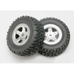 Traxxas 7073 Tires & Wheels, SCT/SCT 1/16