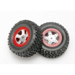 Traxxas 7073A Tire and Wheels, SCT/SCT 1/16 (2)