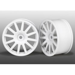 Traxxas 7571 WHEELS, 12-SPOKE (WHITE) (2)