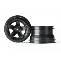 Traxxas 7671 Wheels 5-spoke black 1/18 Teton (2)