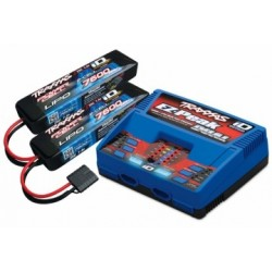 Traxxas 2991GX Charger Dual iD og 2xBattery 7,4V 7600mAh Combo Traxxas