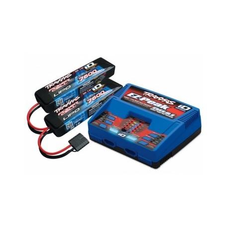 Traxxas 2991GX Charger Dual iD og 2xBattery 7,4V 7600mAh Combo Traxxas