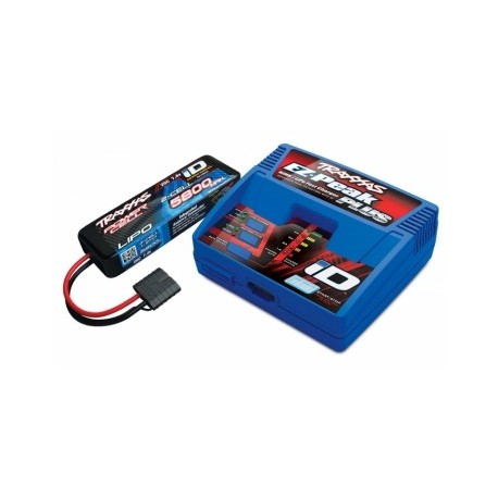 Traxxas combo 2992GX Charger (230V) and 2S LiPo 5800mAh iD Battery Combo