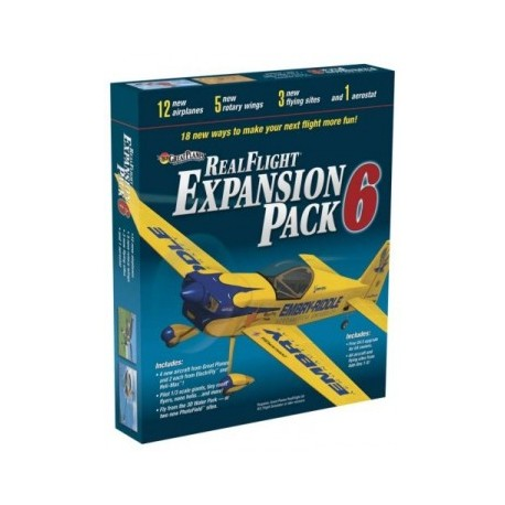 GREAT PLANES Real Flight G4 Exp. pack 6*, 18MZ4116