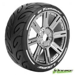 Tires & Wheels GT-TARMAC 1/8 GT Soft (MFT) Black Chrome (2)