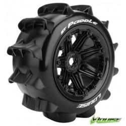 Tires & Wheels ST-PADDLE 1/8 Truck (Beadlock) Black (2)