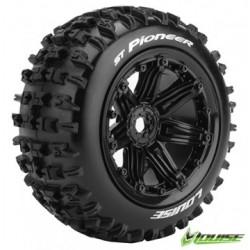 Tires & Wheels ST-PIONEER 1/8 Truck (Beadlock) Black (2)