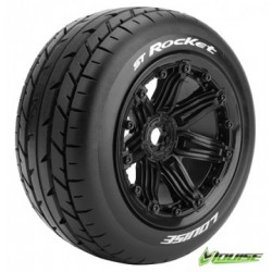 Tires & Wheels ST-ROCKET 1/8 Truck (Beadlock) Black (2)