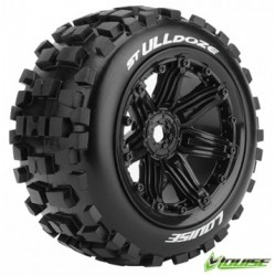 Tires & Wheels ST-ULLDOZE 1/8 Truck (Beadlock) Black (2)