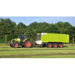 Stor flot fjernstyet Traktor med tippevogn / trailer - Claas Axion 870