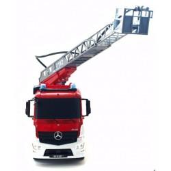 Fjernstyret Mercedes brandbil med vandsprøjte og styrbar stige!