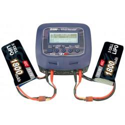 Dobbeltlader SkyRC D100-V2 Dual Charger 2x100W 240VAC/12VDC