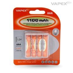 AAA Batteri NiMH 1100mAh 4 styk - GENOPLADELIGE