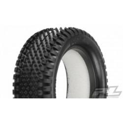 """PL8265-104 Prism 2.2"""" 4WD Z4 (Soft Carpet) Tires Front 1/10 Buggy (2)"""