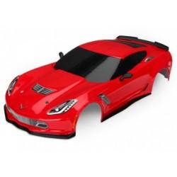 Traxxas 8386R Body Chevrolet Corvette Z06 Red Painted