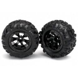 "Traxxas 7277 Tires & Wheels Canyon ATGeode Black 2.2"" 116 (2)"
