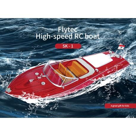 Flytec fjernstyret retro motorbåd