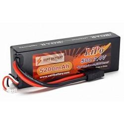 LiPo batteri 7,4V 5200mAh 50c Traxxas stik hard case - VANT battery (2s)