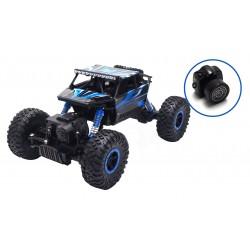 Fjernstyret Conqueror 4x4 rock crawler 1:18 (blå) MED KAMERA