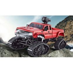 Stor flot terrængående truck med larvefodshjul og webcam