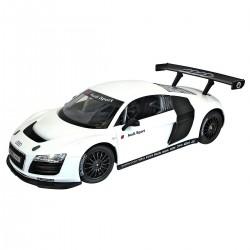 Flot fjernstyret Audi sport  R8 LMS, hvid, 1:14