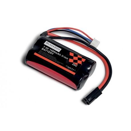 Blackzon ekstra LiPo-batteri m. sort stik