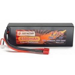 2S 6500mAh 75c LiPo batteri t-plug deans stik