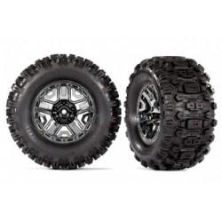 """Traxxas 9072 - Tires & Wheels Sledgehammer/Black Chrome 2,8"""" TSM (2)"""