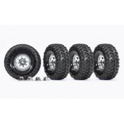 "Traxxas 8183X - Tires & Wheels 1.9"" Resto-Mod (for 8255A Axle) (4)"